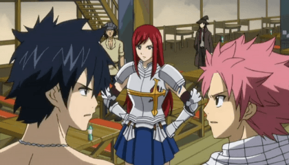 Fairy Tail  Episódio 5 - A Maga de Armadura