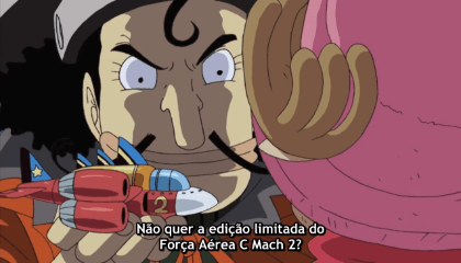 ONE PIECE  Episódio 336 - A Partida de Chopperman! Proteja a Estação de TV na Costa!