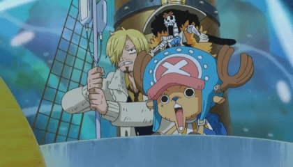 ONE PIECE  Episódio 524 - Combate mortal no fundo do mar! O demonio das profundesas aparece