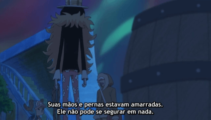 ONE PIECE  Episódio 525 - Desastre no fundo do mar! O bando do Chapeu de Palha se separa