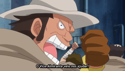 ONE PIECE  Episódio 606 - O Vice-Almirante Traidor! Vergo, o Demônio do Bambu!