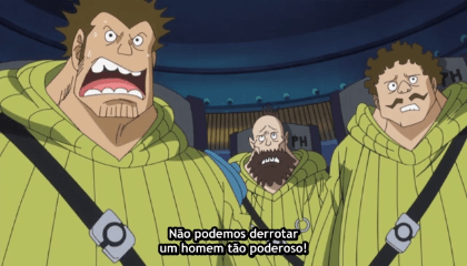 ONE PIECE  Episódio 617 - Esmague o Caesar! O Supremo Grizzly Magnum!