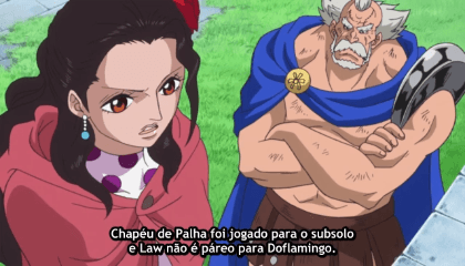 ONE PIECE  Episódio 707 - Seja Livre! Law Dispara o Injection Shot!